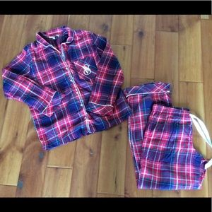 Victoria's Secret flannel pajama set
